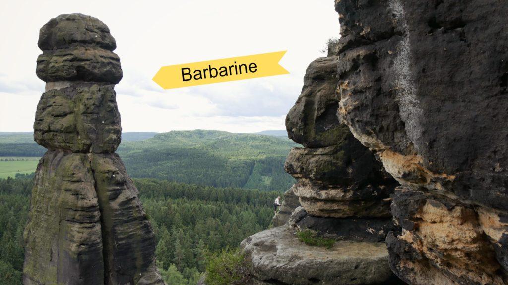 Die Barbarine auf dem Pfaffenstein